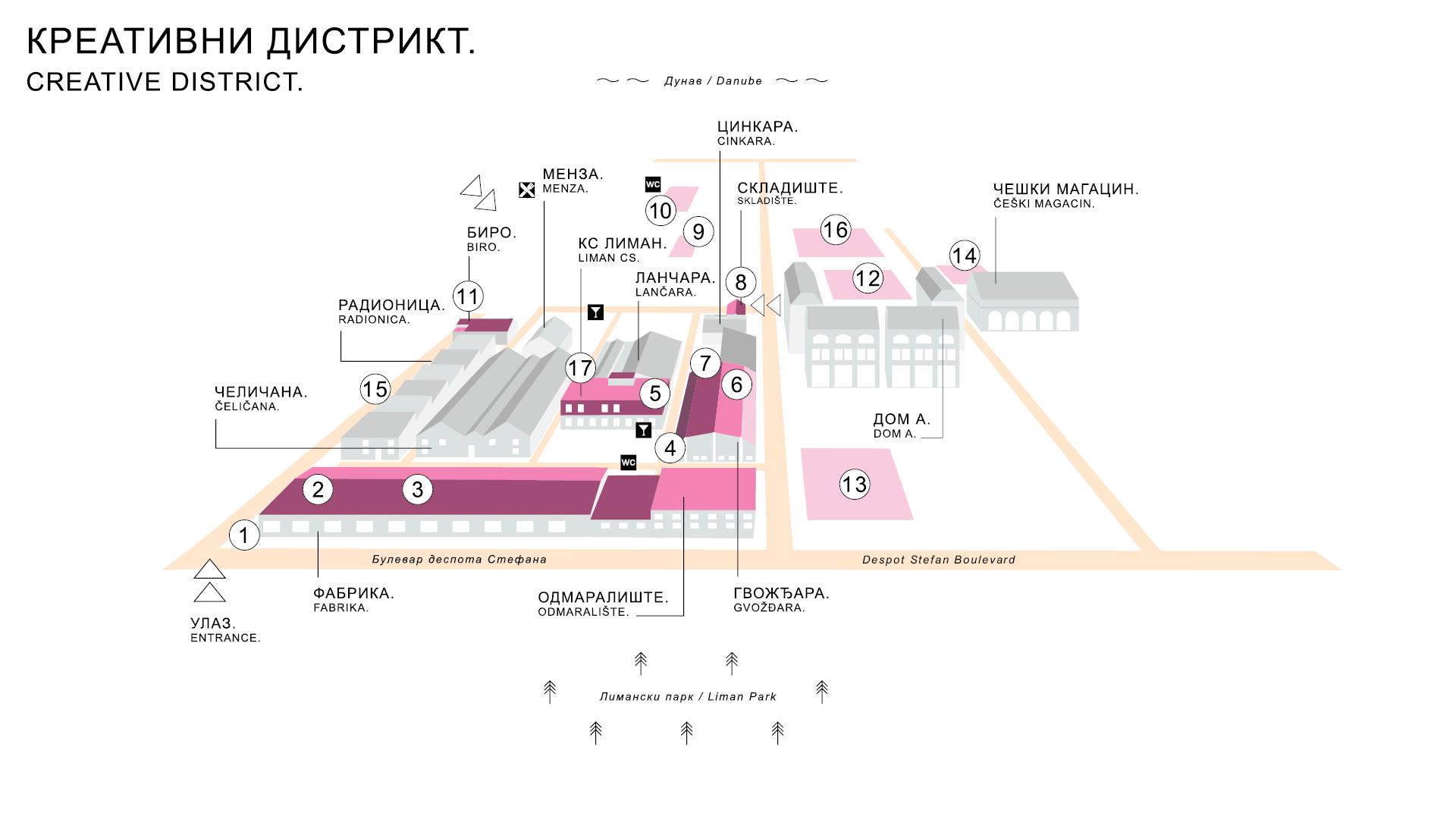 kreativni distrikt mapa